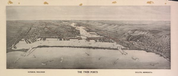 1915 photo of twin ports WHS