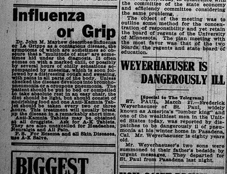 Mar 27, 1914 influenza