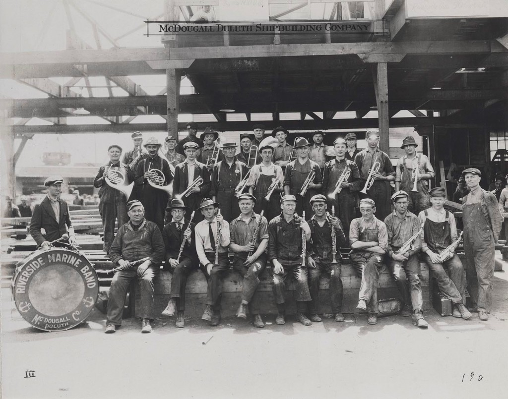 The local Riverside Marine Band (Lake Superior Maritime Collections, UW-Superior.)